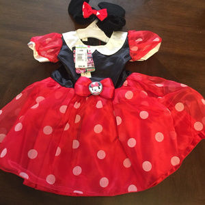 Disney Minnie Mouse 6-9Mos Dress w Headband